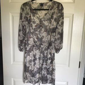 CLUB MONACO Multicolor Paisley Short Casual Dress.